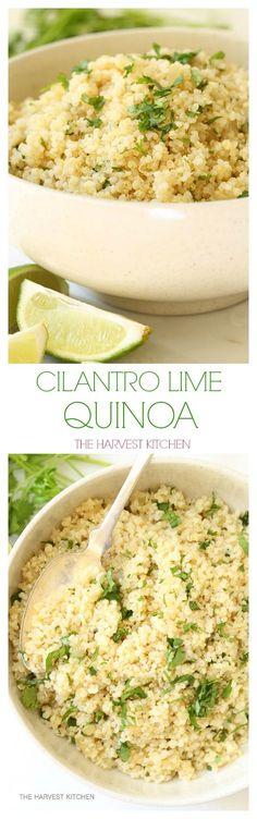 One pot Cilantro Lime Quinoa. Your new favorite easy quinoa recipe. @theharvestkitchen.com