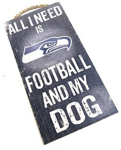 Seattle Seahawks  Wall Decor Dog Sign NFL  All I Need Is Seahawks Football and My Dog *** Check out the image by visiting the link.