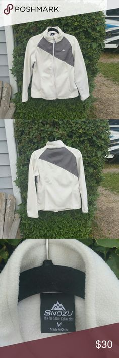 Snozu white jacket White Snozu jacket.  No rips holes or stains.  In excellent condition Snozu Jackets & Coats