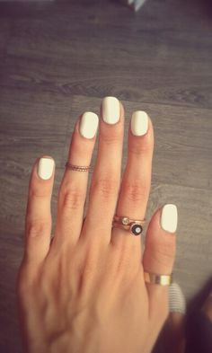 Gold rings and white nails love