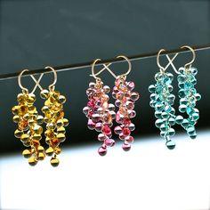 Krista Bermeo Ocean Ombre Double Strand Glass earrings Glass Earrings, Drop Earrings, Sterling Jewelry, Handcrafted Jewelry, Ocean, Gallery, Handmade Chain Jewelry, Handmade Jewelry, Roof Rack