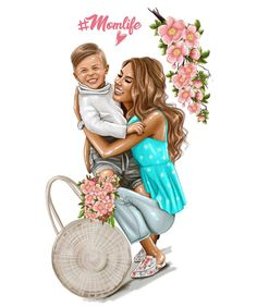 [New] The 10 Best Makeup Today (with Pictures) Mother Daughter Art, Mother Art, Family Illustration, Illustration Art, Sarra Art, Bff Drawings, I Love My Son, Wallpaper Iphone Cute, Illustrations