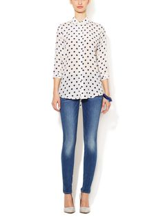 The Skinny Distressed Jean by 7 for All Mankind at Gilt