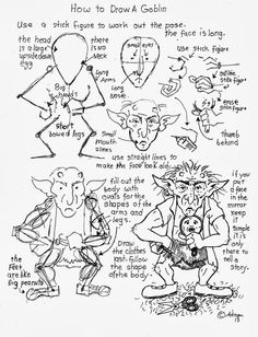 How to Draw Worksheets for The Young Artist: How To Draw A Goblin Worksheet.