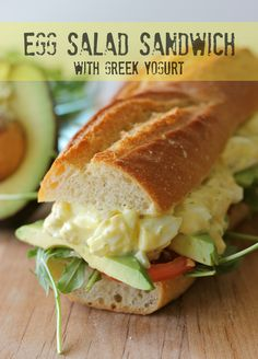 Greek Yogurt Egg Salad Sandwich (or on a gluten-free wrap!!) I am not good at hard boiling eggs but I do want to try again.