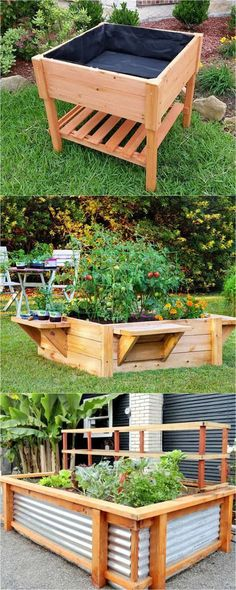 28 Amazing DIY Raised Bed Gardens 28 most amazing raised bed gardens, with different materials, heights, and many creative variations. Great tutorials and ideas on how to build raised beds ! Raised Bed Garden Design, Diy Garden Bed, Garden Boxes, Garden Planters, Garden Soil, Garden Shrubs, Garden Path, Easy Garden, Shade Garden