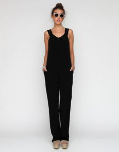 BLISS - wee wednesday (on a friday) with lindsay of darling clementine: Mama style>>BLACK JUMPSUIT T by Alexander Wang