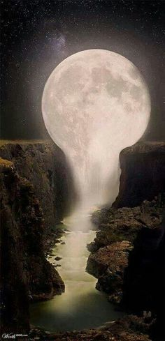 Fabulous MOON Energy and I love that it incorporates the flow of water which is also MOON energy. #aclearplace