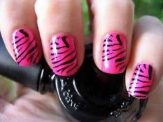 How to: Zebra Nails alexandraande