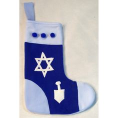 Fleece Hannukah Stocking - Star and Dradel Design.    Whether you celebrate Chanukah, Hanukah, Hanukkah, or Hannukah - these stockings are designed especially for you. This accessory is perfect for Interfaith families.
