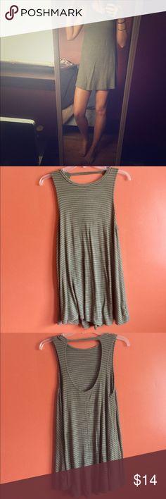 Mini striped forever 21 dress Size small fits like an x-small! Green striped forever 21 mini dress! Never worn! Forever 21 Dresses Mini