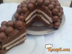 Recept za Torta kuglica. Za spremanje torte neophodno je pripremiti šećer, mleko, margarin, brašno, jaja, kakao, prašak za pecivo, margarin, mleko, čokoladu, slatku pavlaku.