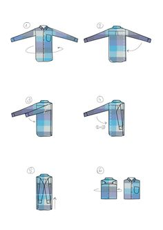 How to fold a shirt? on Behance  #graphic