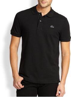 Men's Lacoste Black Polo Shirt
