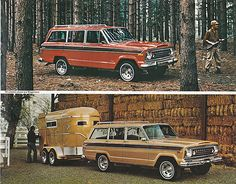1978 jeep wagoneer, but at one time we had this exact horse trailer! Remember, @Virginia Chavez?