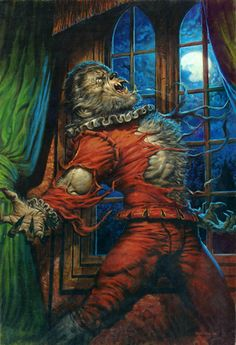 The Werewolf by Greg Staples from The Horror Stories of Robert E. Bark At The Moon, Howl At The Moon, Fantasy Creatures, Mythical Creatures, Horror Monsters, Vampires And Werewolves, Classic Monsters, Creatures Of The Night, Creature Feature
