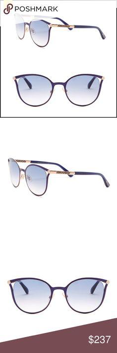 be436fca13c NWT✨JIMMY CHOO Blue Cat Eye Sunglasses NWT Jimmy Choo Blue Neiza 54mm Cat  Eye