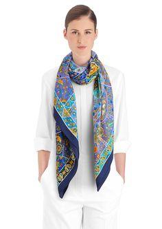58faf65c11c3 Au Pays des Oiseaux Fleurs   Hermès cashmere and silk shawl, hand-rolled,