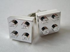 Lego cufflinks in all colors