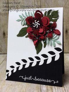 Botanical Blooms, Botanical Builder Framelits, card
