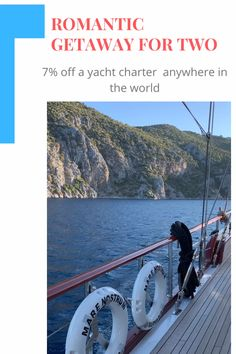 Find out more about a St. Valentine's discount for a yacht charter any time in Romantic Escapes, Romantic Getaway, Romantic Destinations, Travel Destinations, Yacht Vacations, Sea Pictures, Relationship Gifs, Yacht Broker, Most Romantic Places