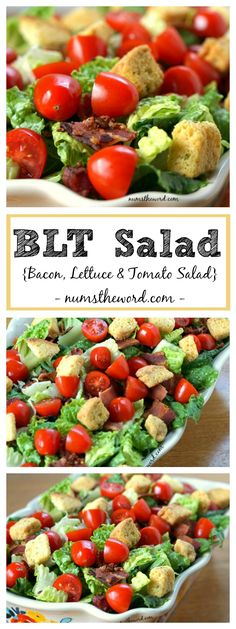 This BLT Salad {Bacon, Lettuce & Tomato Salad} is simple, delicious ...