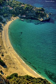 Megalo Seitani beach situated on the mountainous northwest coast of Samos island, in Dodecanese complex