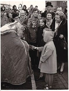 Princess Marijke (now Christine) and Sint Nicolaas, Amsterdam 1954