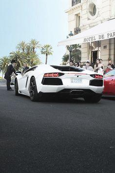 aventador // white wedding ride inspo