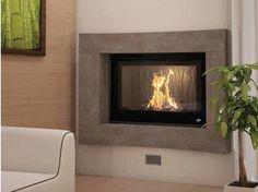 Wood-burning built-in wall-mounted fireplace MATAO - CHEMINEES SEGUIN DUTERIEZ Wood, Wall Mounted Fireplace, Contemporary, Contemporary Fireplace, Home Decor, Fireplace