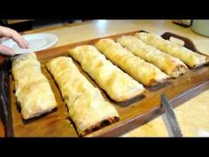 Kézzel húzott házi rétestészta készítés - YouTube Hungarian Desserts, Hungarian Recipes, Banana Dessert, Dessert Bread, Veggie Recipes, Bread Recipes, Veggie Food, Cooking Tips, Cooking Recipes