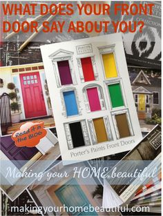 Colourful Front Doors - What they say about you! - Making your HOME beautiful