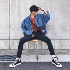 Korean Fashion Summer, Korean Fashion Men, Kpop Fashion, Fashion Fall, Korean Men Style, Korean Summer, Uk Fashion, Fashion 2020, Urban Fashion