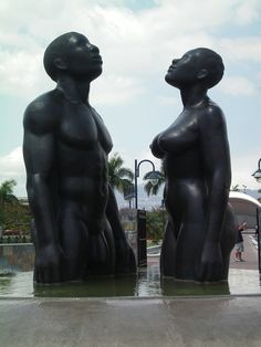 Emancipation Park in Kingston, Jamaica. Remarkable vision by this sculptor.
