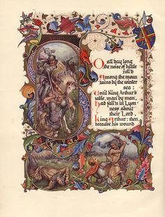 TENNYSON, Alfred Lord , SANGORSKI, Alberto (illus.)  Morte D'Arthur