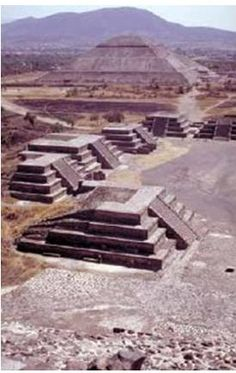Pyramid of the Sun and Moon, Teotihuacán, Mexico City--Visited there in the 1970's.  Very interesting archeological site.