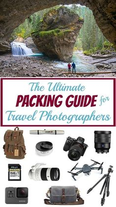 The Ultimate Packing Guide for Travel Photographers (Tips From a Pro!) - This travel photography packing list includes all of the gear you'll need and the best camera bac - Ultimate Packing List, Packing List For Travel, Travel Tips, Packing Lists, Ultimate Travel, Travel Hacks, Best Camera Backpack, Camera Gear, We Are The World