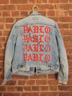 Image result for kanye west pablo denim jacket