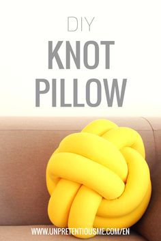Why not make your own knot pillow? It is cosy, functional and can add a bit of an edge to your space.