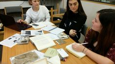 Our @EncapCardiffUni students using Edward Thomas' photos on @CarrieRSmith's literary archives module.