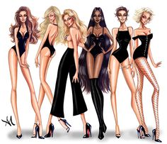 armandmehidri: Supermodels Collection - by Armand Mehidri Who's your favorite? Fashion Model Sketch, Fashion Design Sketchbook, Fashion Design Drawings, Fashion Sketches, Fashion Illustration Poses, Illustration Mode, Fashion Illustrations, Moda Fashion, Fashion Art