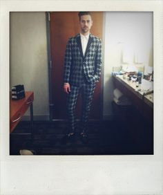 Getting Ryan Lewis ready for the Grammys in Mr Turk...