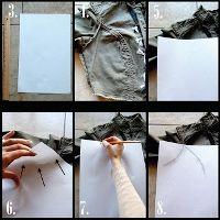 yo elijo coser: Técnica para clonar el patrón de cualquier prenda