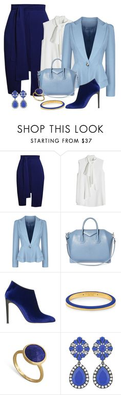 """GIRL POWER: Power Look"" by shamrockclover ❤ liked on Polyvore featuring Alexander McQueen, WithChic, Givenchy, Giuseppe Zanotti, Henri Bendel, Marco Bicego, girlpower and powerlook"