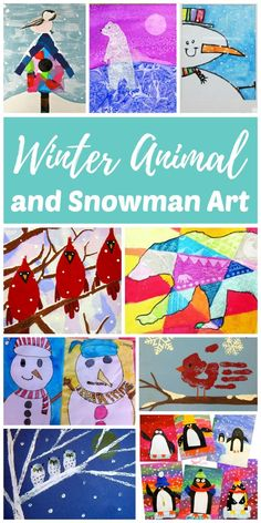 Artists of all ages will be able to find an easy winter animal or snowman art project in this collection. Painting animals and snowmen is a fun way for kids to get creative on snowy or rainy winter days and connect with nature during the colder winter months.
