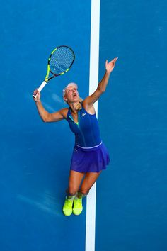 1/17/17 Caroline Wozniacki advances to Aus Open R2 in straight sets over Arina Rodionova 6-1, 6-2. via Radio Elshinto