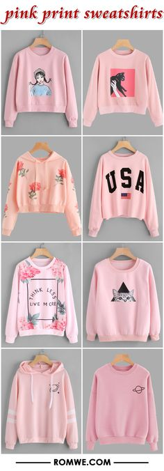Shop online for the latest collection of PIN US PrintSweatshirts 20171211 V Find the best styles and deals at ROMWE right now! Girls Fashion Clothes, Teen Fashion Outfits, Outfits For Teens, Girl Fashion, Cute Girl Outfits, Cute Casual Outfits, Stylish Outfits, Sweater Hoodie, Cute Dresses