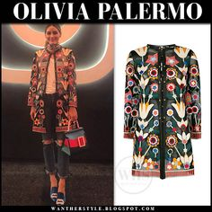 Olivia Palermo in floral embroidered sheer jacket and ripped jeans Olivia Palermo Style, Blue Satin, Signature Style, Ripped Jeans, Style Icons, Celebrity Style, Kimono Top, Style Inspiration, My Style