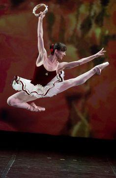 "Ashley Bouder (New York City Ballet) and Denis Matvienko (Mariinsky Ballet), ""Tarantella"" at Dance Open Ballet Festival, April 2011, Saint Petersburg, Russia"