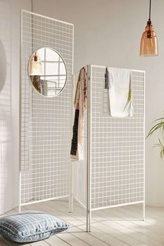 Layered Lines Screen Room Divider: